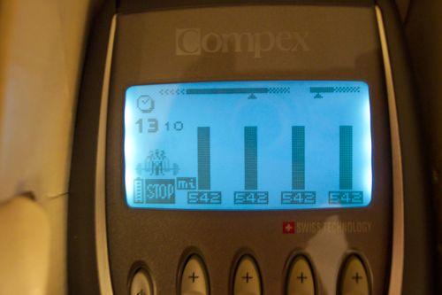 intensidad máxima de entrenamiento electroestimulacion compex