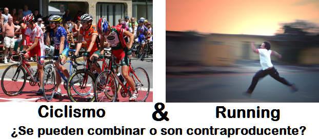 Se pueden combinar el ciclismo y el correr a pie?