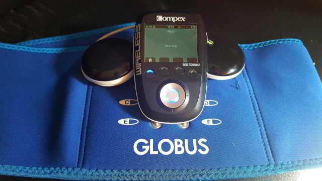 faja  quemagrasa lumbar y abdominal globus para compex wireless sp y fit