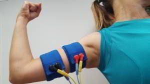 cintas elasticas electroestimulacion brazo