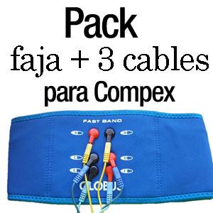 faja + 3 cables para compex